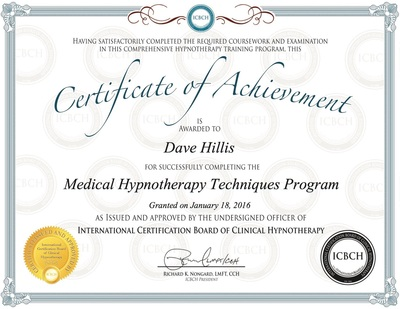 Clinical Hypnotherapy - Dr Dave Hillis LifeStyle Engineer®